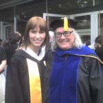 Raelyne Dopko and Jayne Gackenbach at 2010 MacEwan Graduation