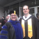 Jayne Gackenbach and Matt Rosie at his 2010 MacEwan Graduation