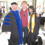 Jayne Gackenbach, Jordan Olischefski and Beena Kurvilla at MacEwan Graduation 2008