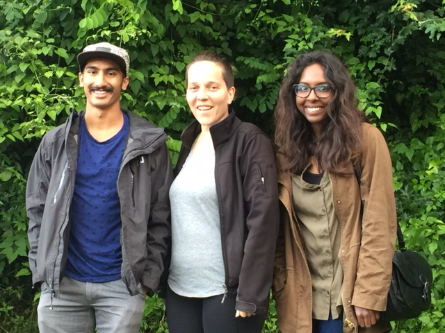 Dylan Wijeyaratnam, Elisa White and Akshya Boopalan at the International Association for the Study of Dreams conference in the Netherlands, June 2016.